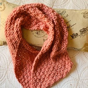 Rose Pink Soft Chunky Knit Infinity Scarf NWT